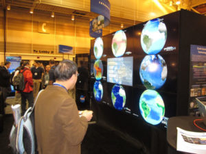 Planets align at the Exhibit Hall opening.
