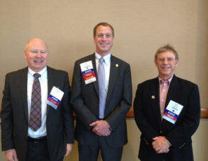 AMS Presidents present, past, and future: (left to right) Sandy McDonald, Bill Gail, and Frederick Carr